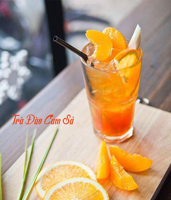 Cách làm trà đào cam sả ngon