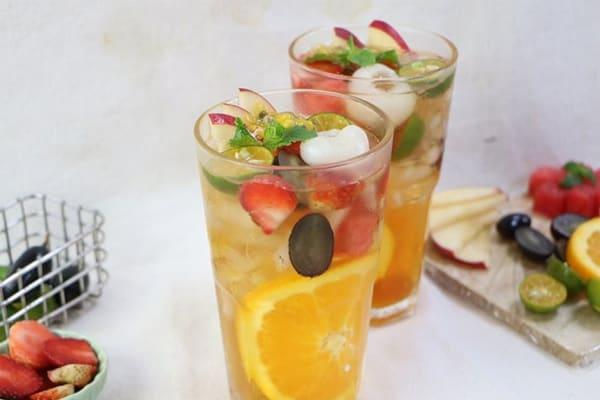 Cách làm trà hoa quả nhiệt đới 4 mùa